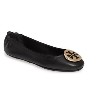 "Tory Burch ""Minnie"" logo ballet flat"